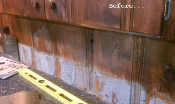 workbench backsplash before