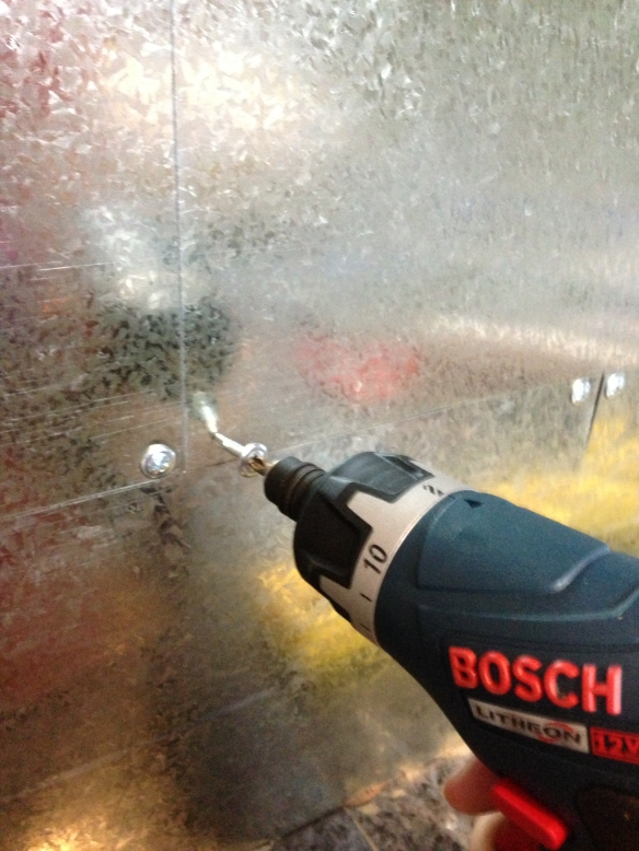 workbench backsplash drilling