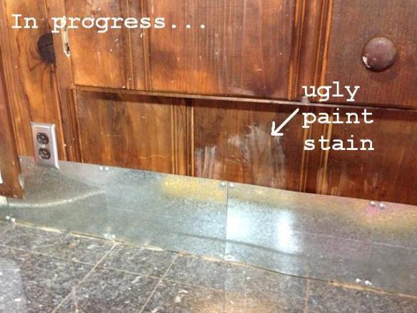 workbench backsplash progress before