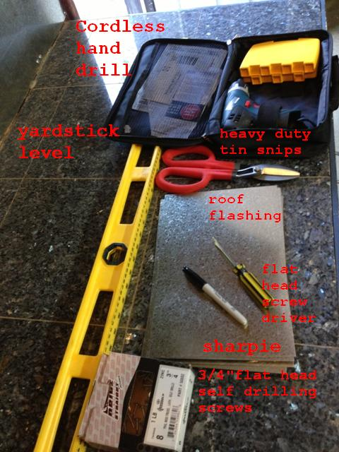 workbench backsplash tools