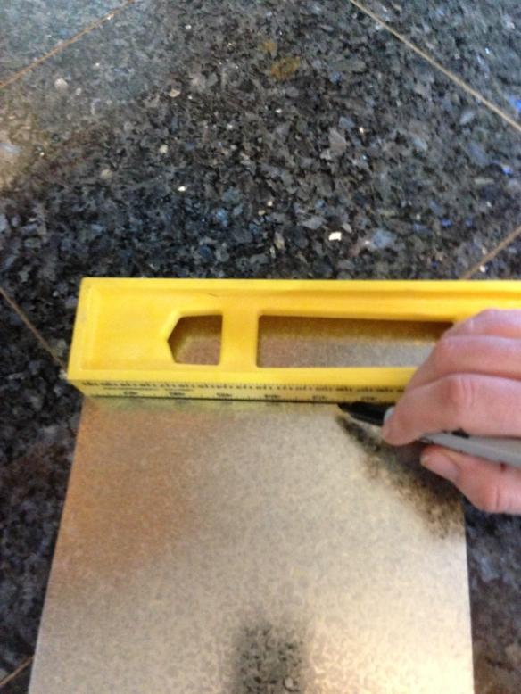 workbench backsplash tracing on metal