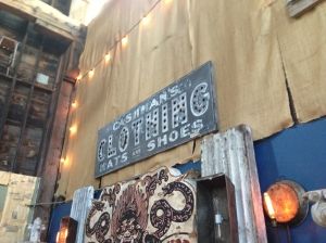 BDA vintage clothing sign
