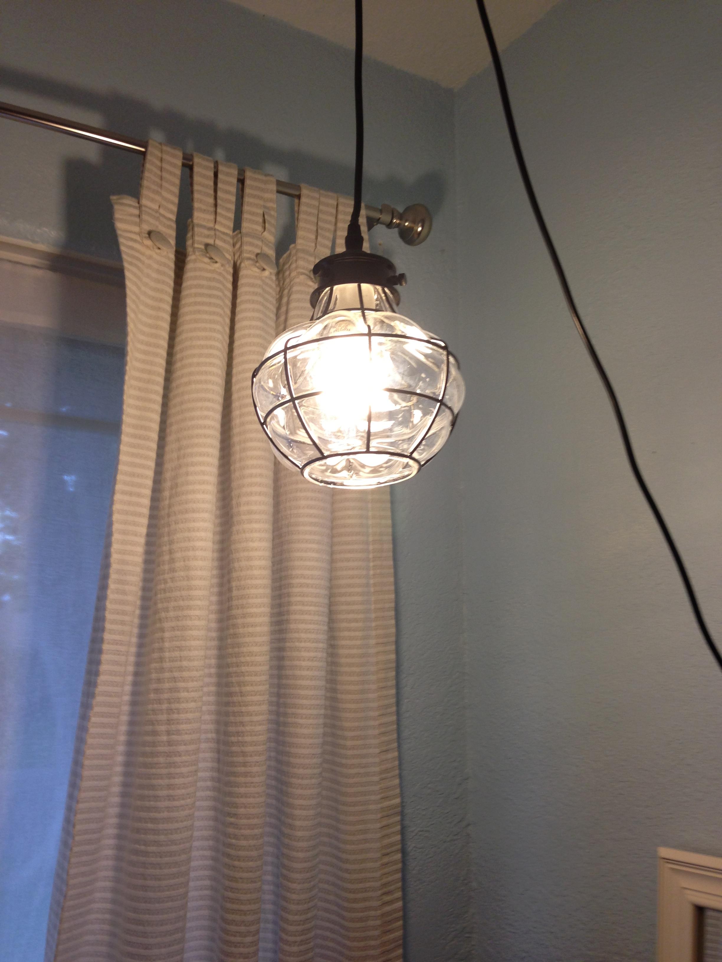 A Few Inexpensive Updates…Drum light Ceiling Fan