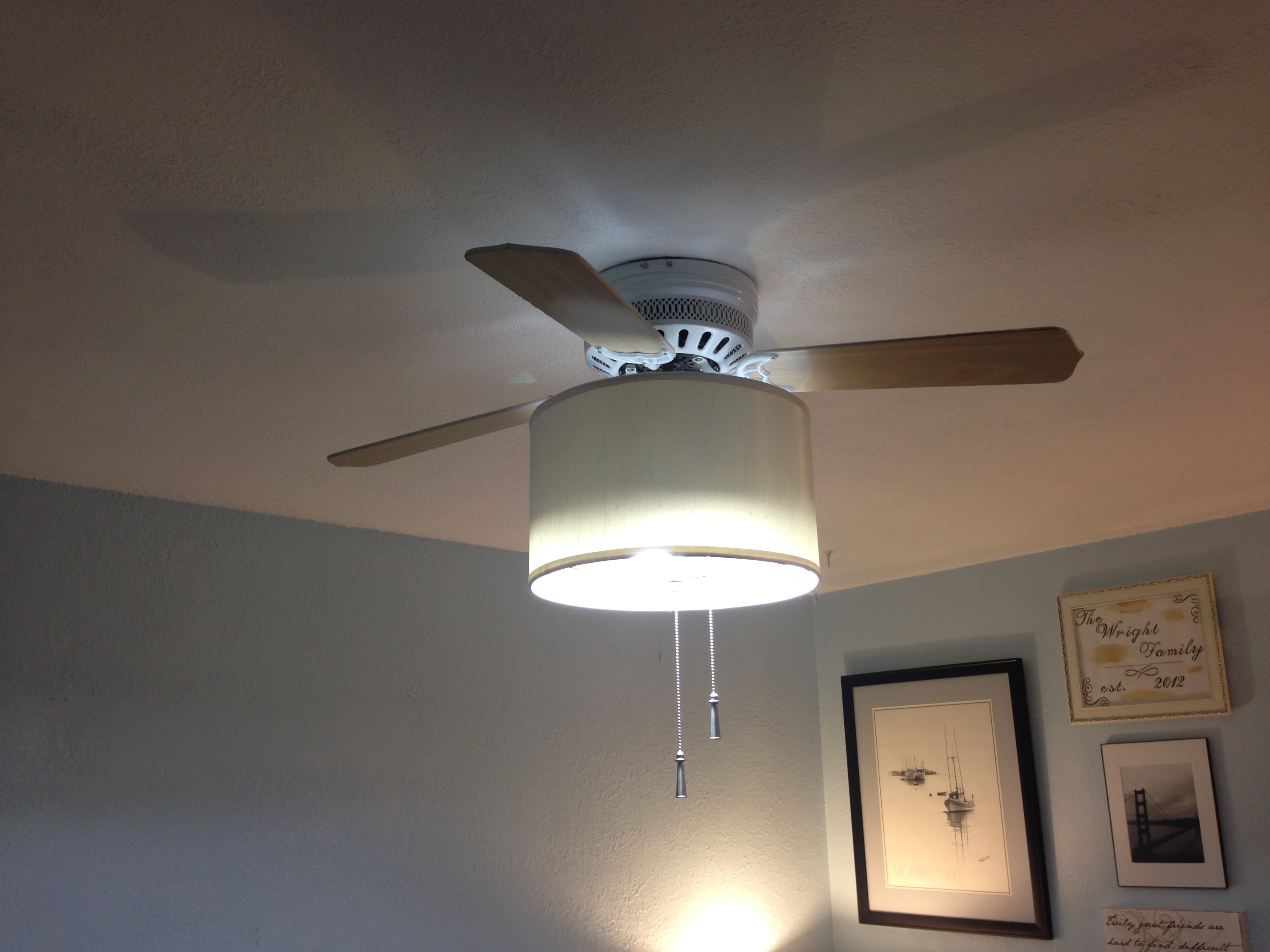 A Few Inexpensive Updates Drum Light Ceiling Fan