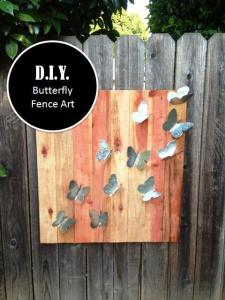 butterfly fence art 001 with graphic