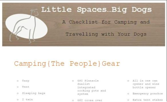 printable camping list graphic