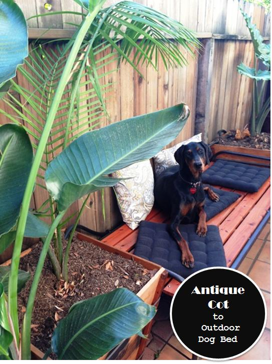 antique cot outdoor dog bed
