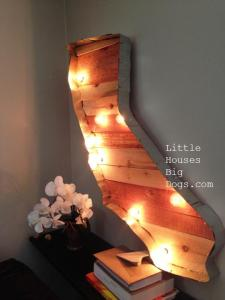 california marquee diy wood metal lights