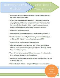 Pre-roof checklist for homeowners
