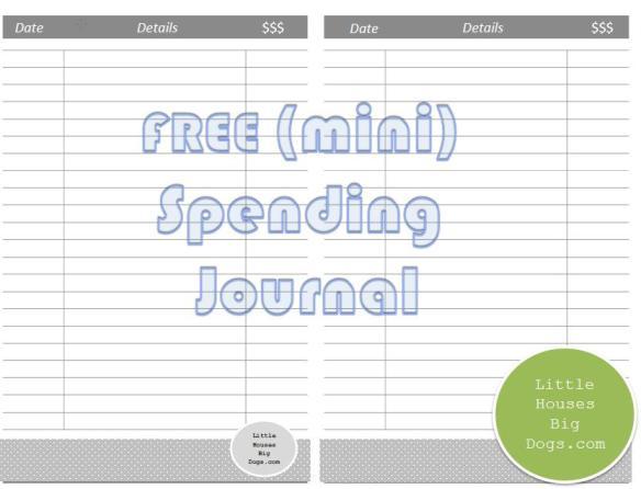 free mini spending journal tracker