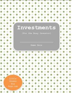 Free Investment Printables Cover