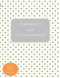 Free Investment Printables Statements and Correspondence Cover