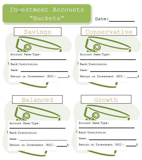 Investment Buckets example