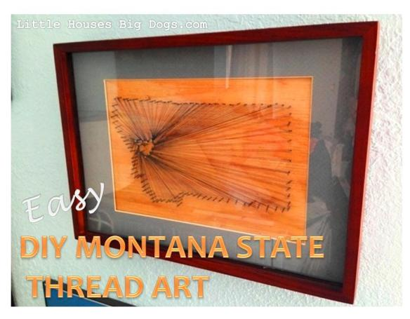 diy easy montana wood nail thread art