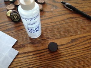 diy gift beer bottle cap magnets 004