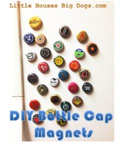 diy gift beer bottle cap magnets