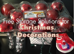 Free Storage Solutions for Christmas Decorations