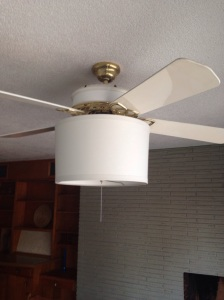 add drum shade to ceiling fan