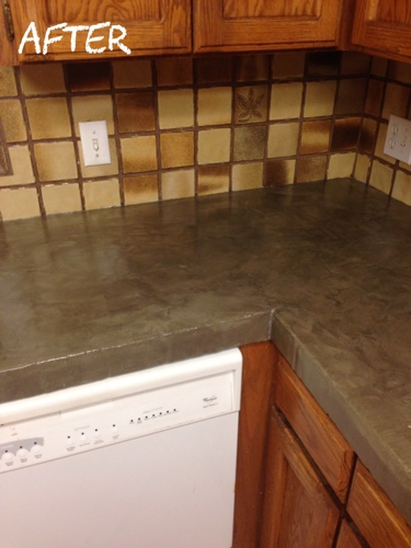 Part Kitchen MakeoverEncore Countertops Tips And Helpful Hints - Cover ceramic tile countertop