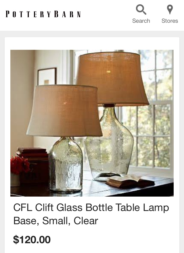 Cheap bottle lamp littlehousesbigdogs for Cheap home goods