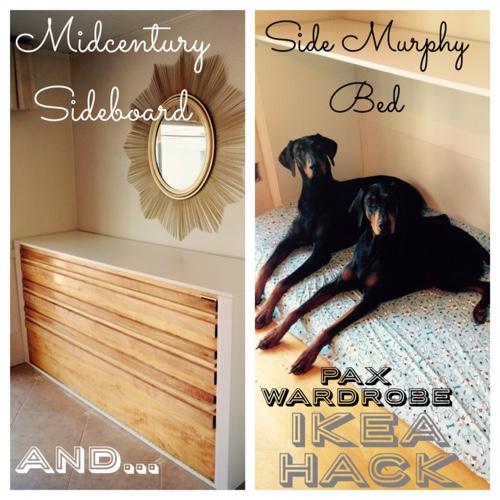 Finishing The Unfinished Ikea Hack Pax Side Murphy Dog