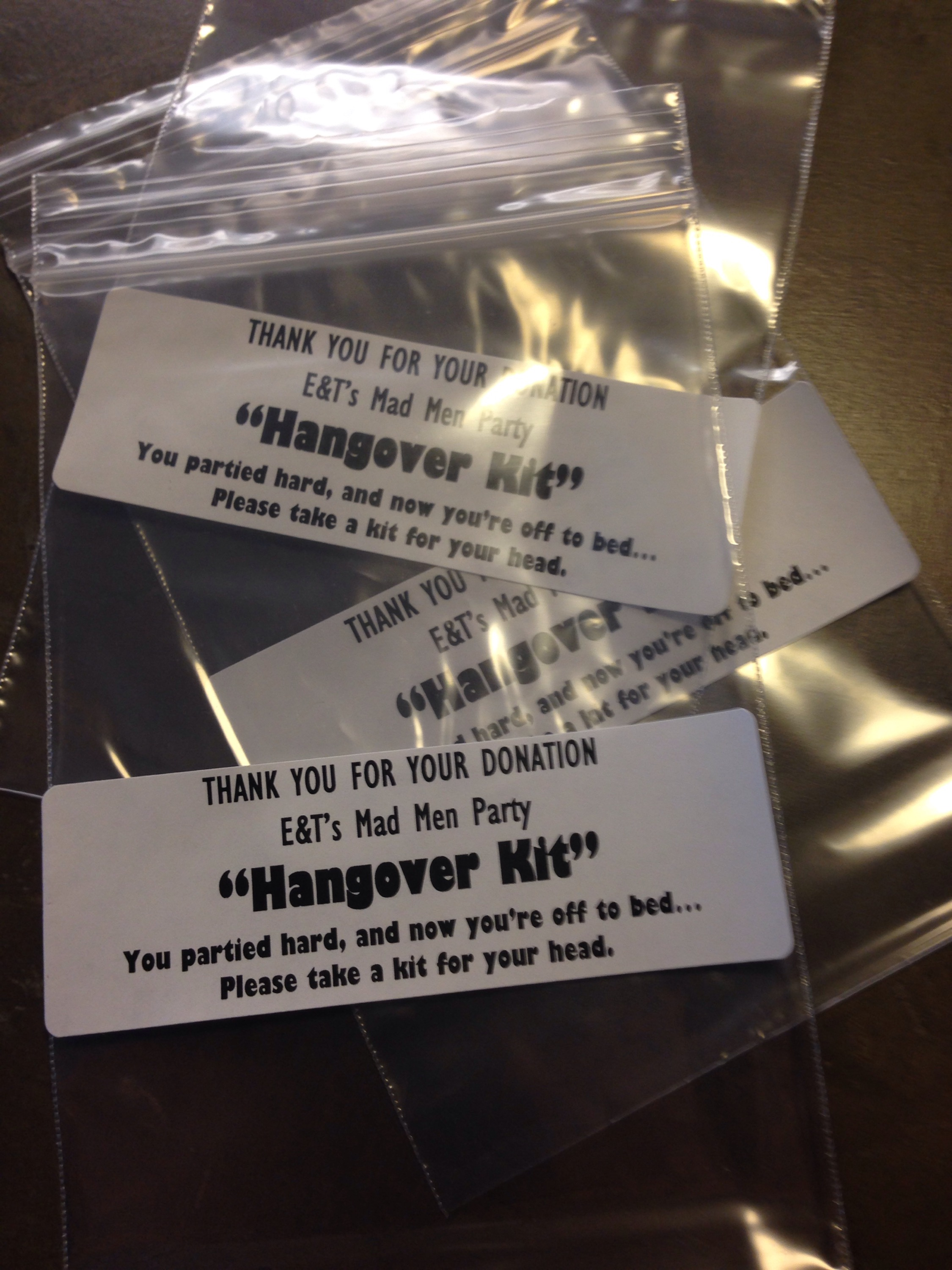 This is a photo of Bright Hen Party Hangover Kit Labels